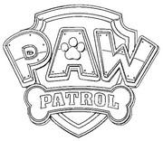 Coloriage Logo Paw Patrol