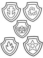 Coloriage Badges de la Pat' Patrouille