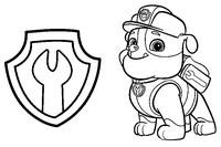 Coloriage Ruben et son badge