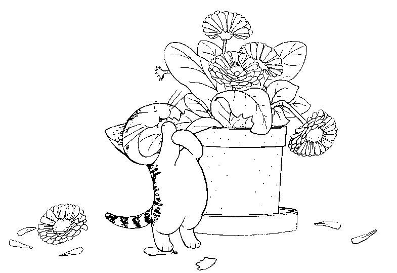 Coloriage chi une vie de chat miam miam 1 - Dessin de chi ...