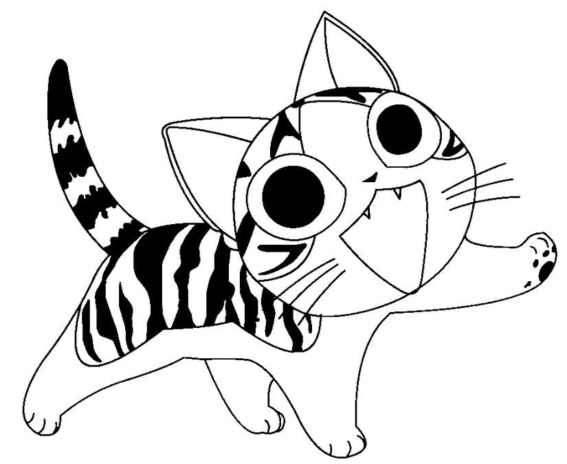 Coloriages Chi une vie de chat Coloriage