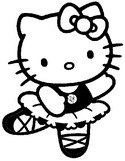 Online coloring page Hello Kitty