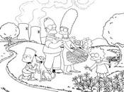 Coloriage en ligne Les Simpsons à la campagne