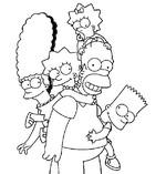 Coloriage en ligne La famille Simpsons