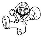 Online coloring page Super Mario