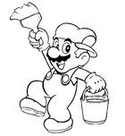 Coloriage en ligne Super Mario