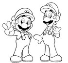 Coloriage en ligne Mario et Luigi