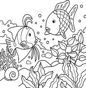 Online coloring page Animals