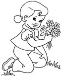Online coloring page Spring