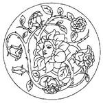 Coloriage en ligne Mandala Printemps