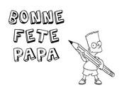 Coloriage en ligne Bart Simpson