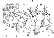 Coloriage en ligne Le traîneau du Père Noël