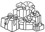 Coloriage en ligne Cadeaux de Noël
