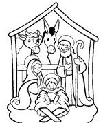 Coloriage en ligne Crèche de Noël