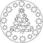 Coloriage en ligne Mandala Noël