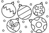 Coloriage en ligne Boules de Noël