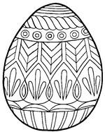 Coloriage en ligne Grand oeuf de Pâques