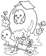 Online coloring page Easter