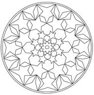 Online Ausmalen Mandalas Morning Kids