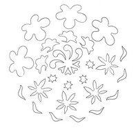 Coloriage en ligne Mandala Fleurs