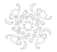 Coloriage en ligne Mandalas Ciel