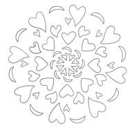 Coloriage en ligne Mandalas Cœur