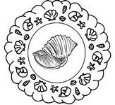 Coloriage en ligne Mandala coquillages