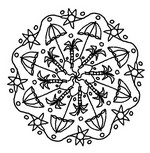 Online coloring page Summer's Mandalas