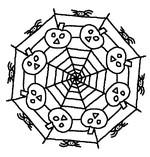Coloriage en ligne Mandala Citrouilles