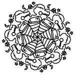 Coloriage en ligne Mandala fantômes