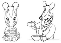 Disegni da colorare on line zou morning kids - Zou coloriage ...