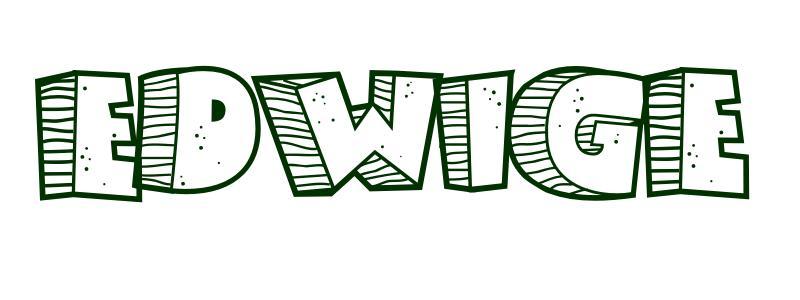Coloriage pr nom edwige - Edwige prenom ...