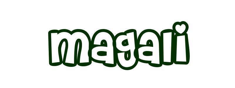 Coloriage Pr 233 Nom Magali