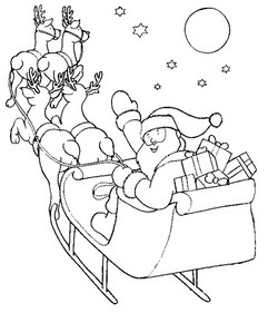 Paroles petit papa no l colorier - Coloriage papa noel ...