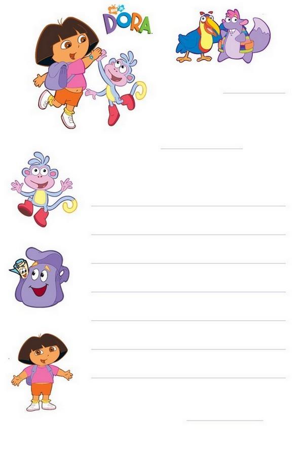 Papier a lettre Dora 1