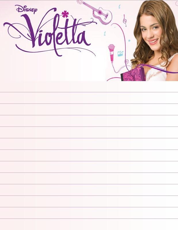 Papier a lettre violetta 1 - Imprimer violetta ...