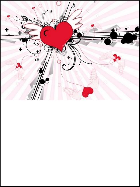 Impression de la carte personnalisée - Saint-Valentin