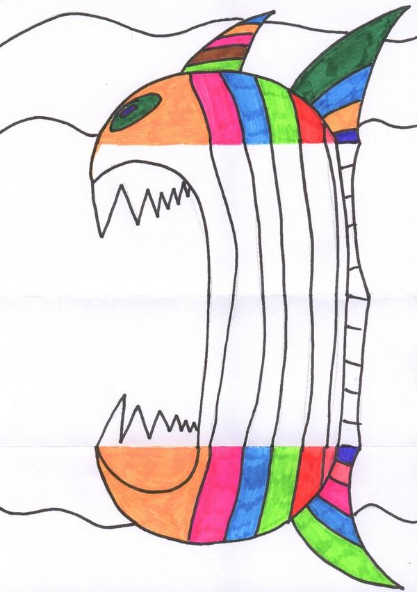 Comment dessiner un poisson d avril - Dessiner un poisson facilement ...