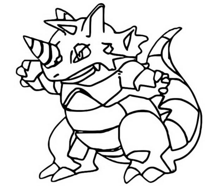 Coloriages Pokemon - Rhinoferos - Dessins Pokemon