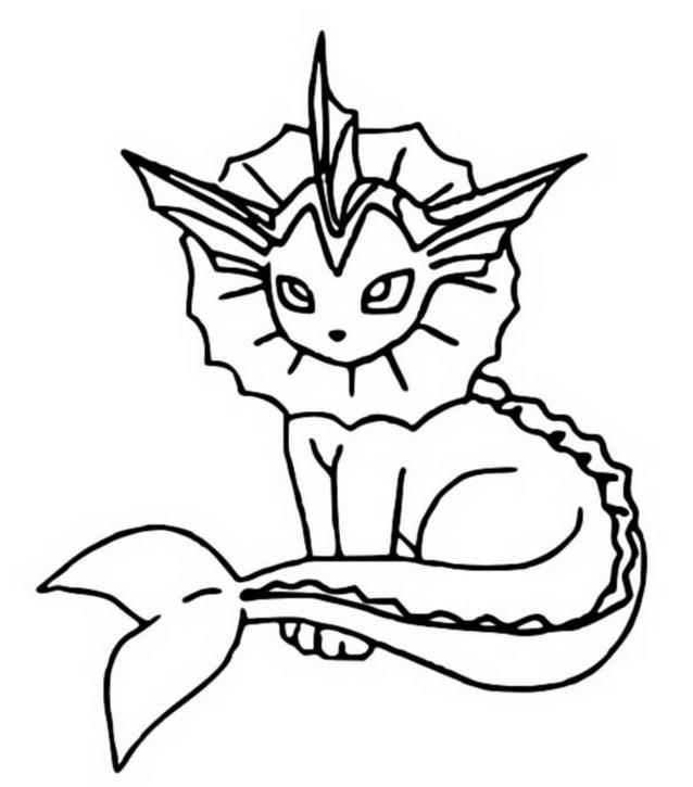 coloriages pokemon aquali