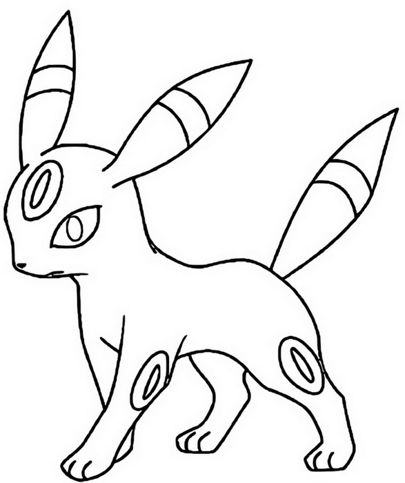 Monster Vapreon Coloring Page