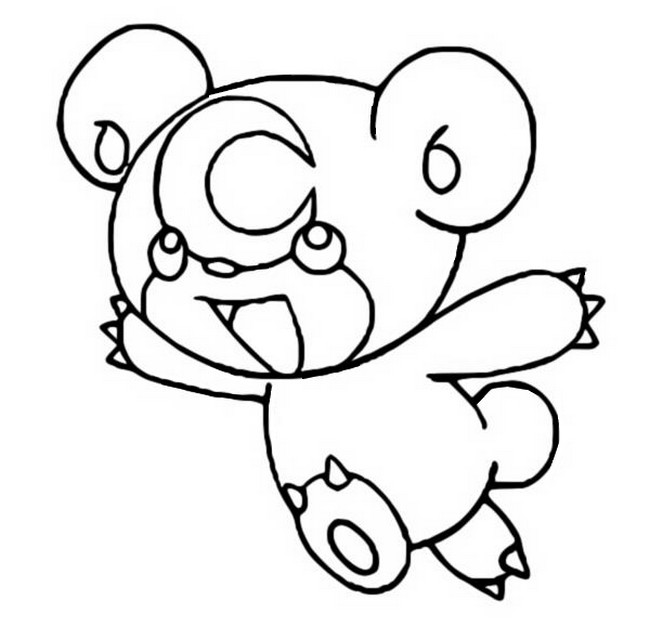 Teddiursa Coloring Pages