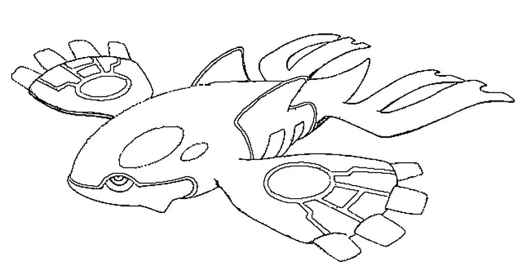 pokemon mega kyogre coloring pages - photo#4