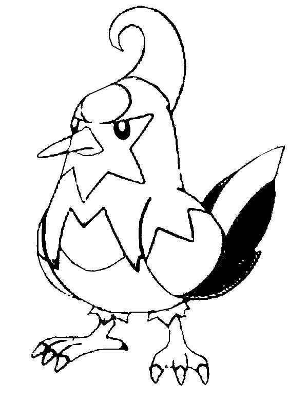 Coloriages Pokemon - Staravia - Dessins Pokemon