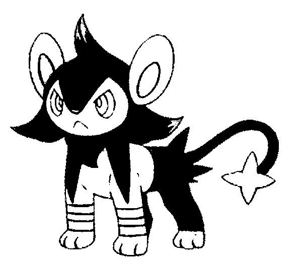 pokemon coloring pages shinx sprite - photo#30