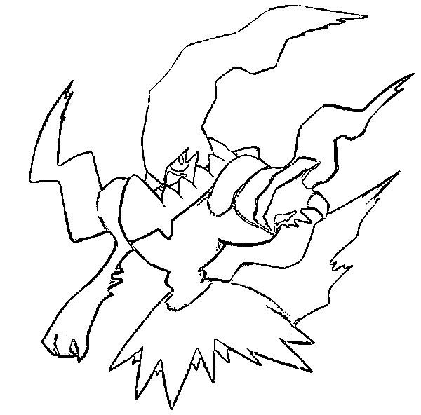 coloriages pokemon darkrai
