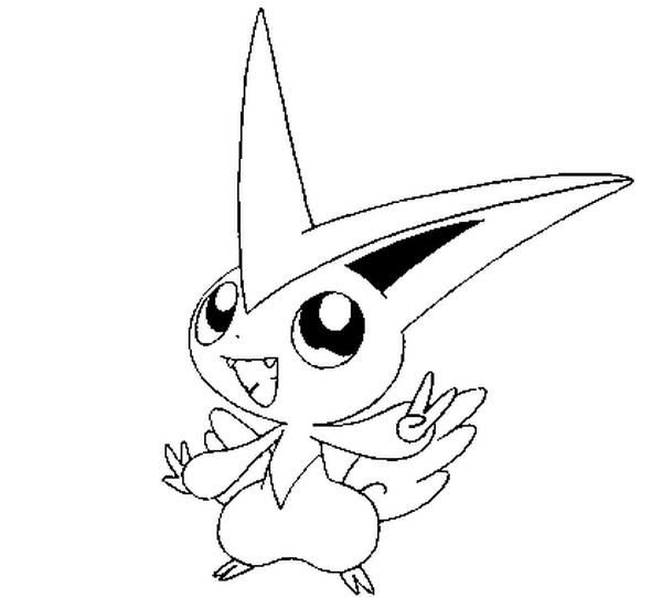 coloriages pokemon victini