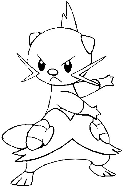 pokemon coloring pages pansage black - photo#22