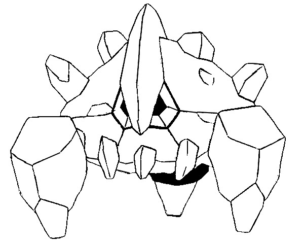 Boldore Pokemon Coloring Pages
