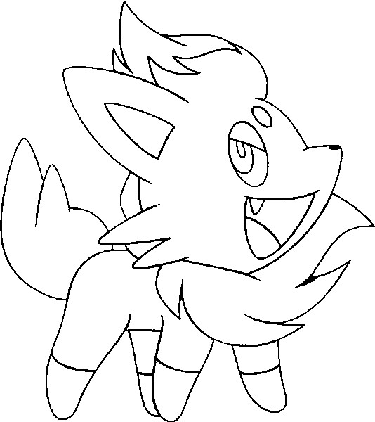 Cute zorua pokemon coloring pages sketch coloring page for Cute pokemon coloring pages